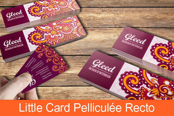 Little card pelliculée recto