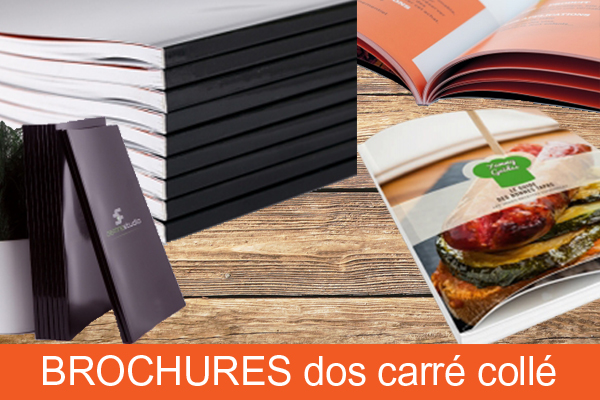 Brochures dos carré collé