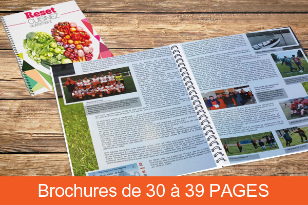 Brochure de 30 à 39 pages