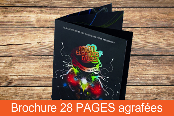 Brochure 28 pages agrafées