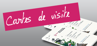 Carte de visite simple épaisse