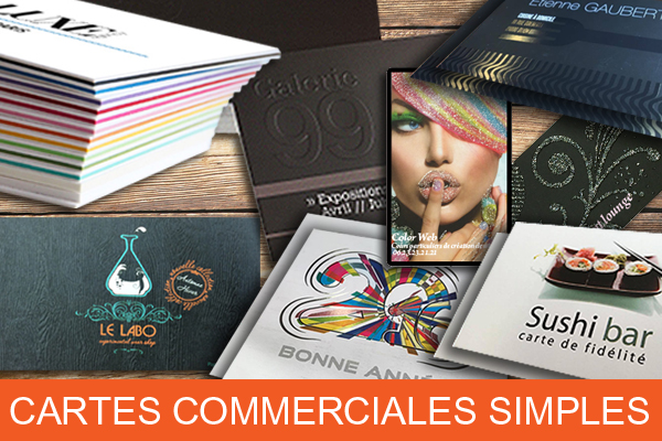 Carte commerciale simple