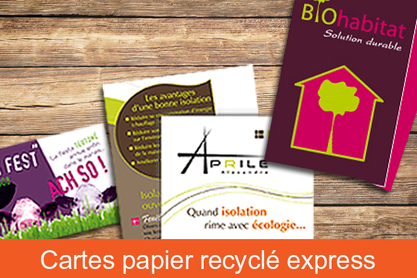 Carte commerciale papier recyclé express