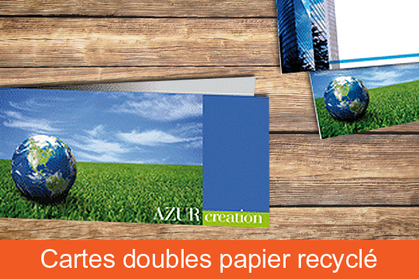 Carte papier recyclé
