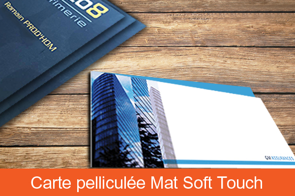 Pelliculage soft touch recto