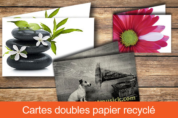 Carte double papier recyclé