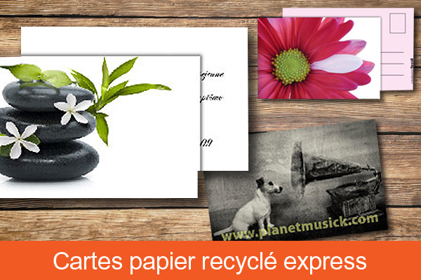 Carte papier recyclé express