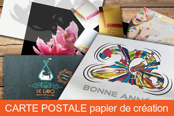 Carte postale simple papier de création