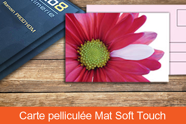 Carte pelliculée soft touch recto verso