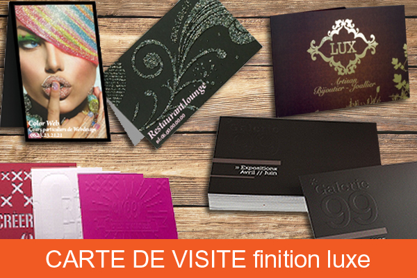 Carte de visite double finition luxe