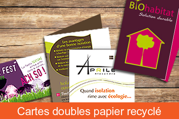 Cartes doubles papier recyclé