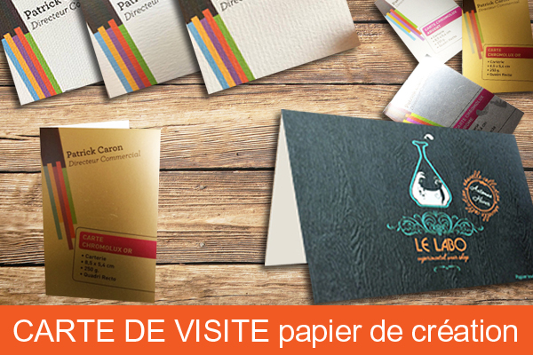 Carte De Visite Double Papier Cration