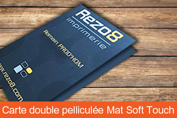 Carte de visite double pelliculage soft touch