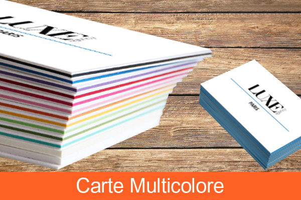 Carte de visite multicolore