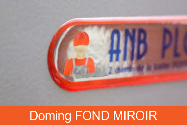 Doming fond miroir