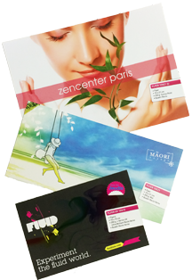 Impression en ligne de flyers, tracts, flycut. Plusierus formats et finitions possibles