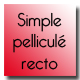 Simple pelliculé recto