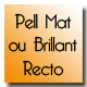 Carte de visite simple pell mat ou brillant recto