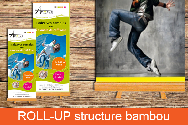 Roll'up structure bambou